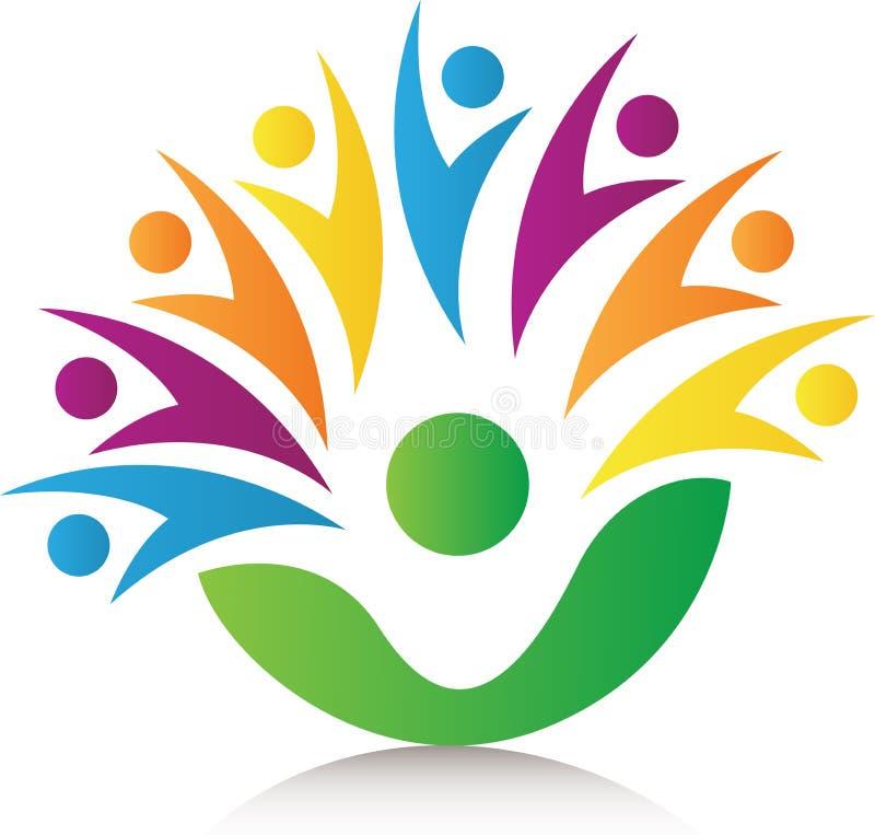 Logotipo de la gente junto ilustración del vector