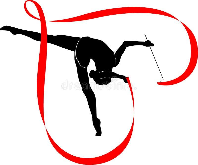 Logotipo de la gimnasia stock de ilustración