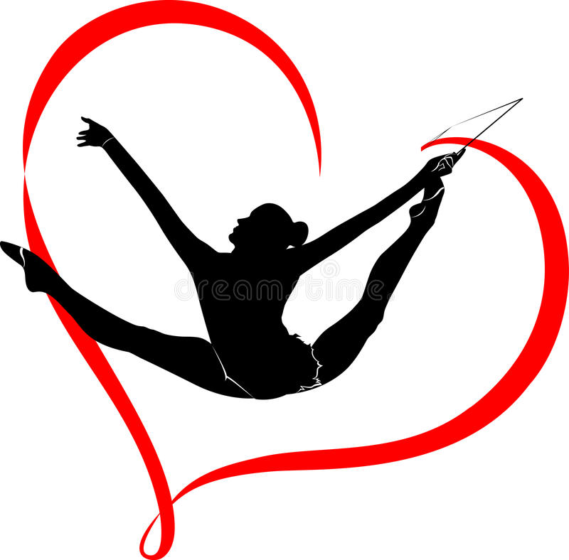 Logotipo de la gimnasia libre illustration