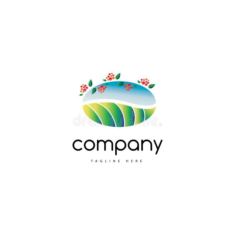 Logotipo de la granja del café ilustración del vector