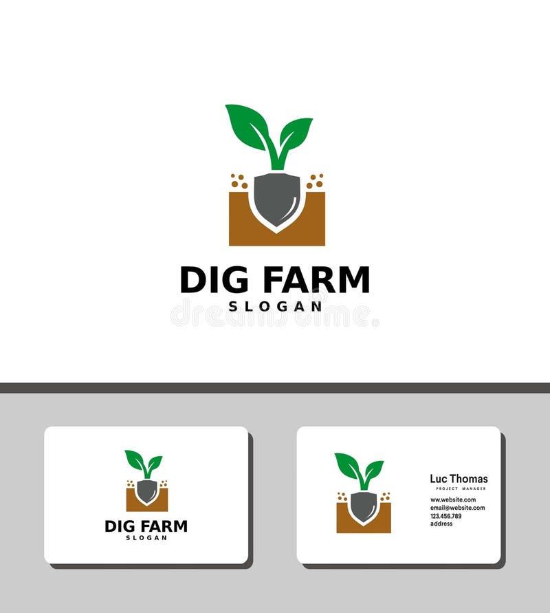 Logotipo de la granja del empuje ilustración del vector
