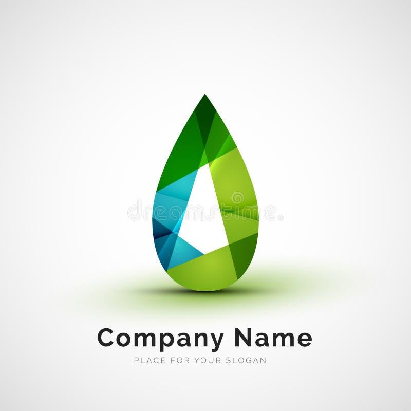 Logotipo de la hoja ilustración del vector