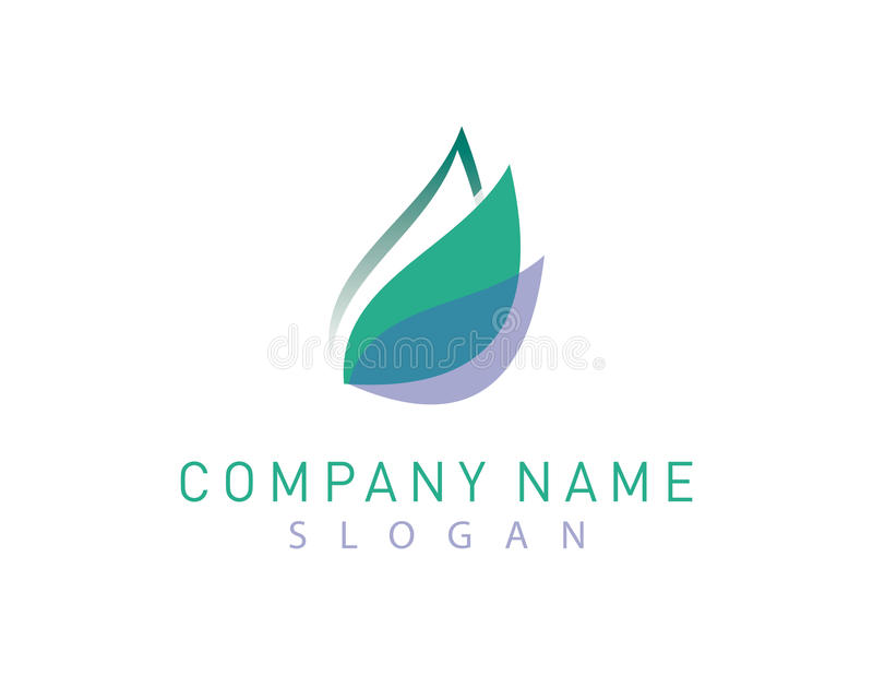 Logotipo de la hoja stock de ilustración