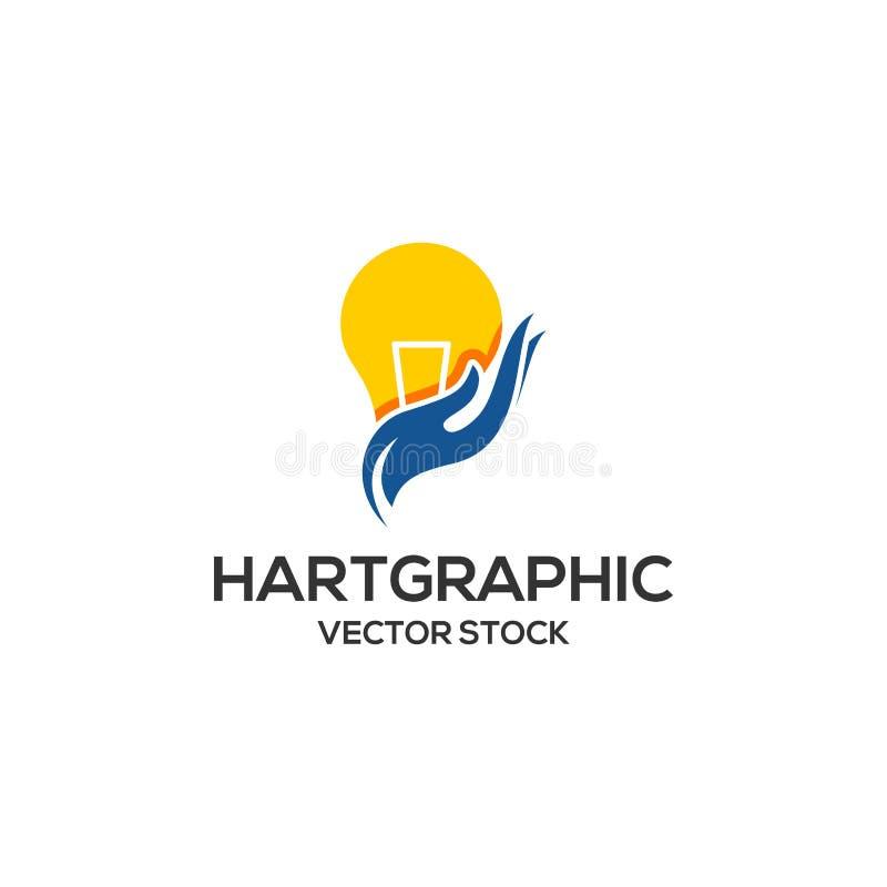 Logotipo de la idea del bulbo ilustración del vector