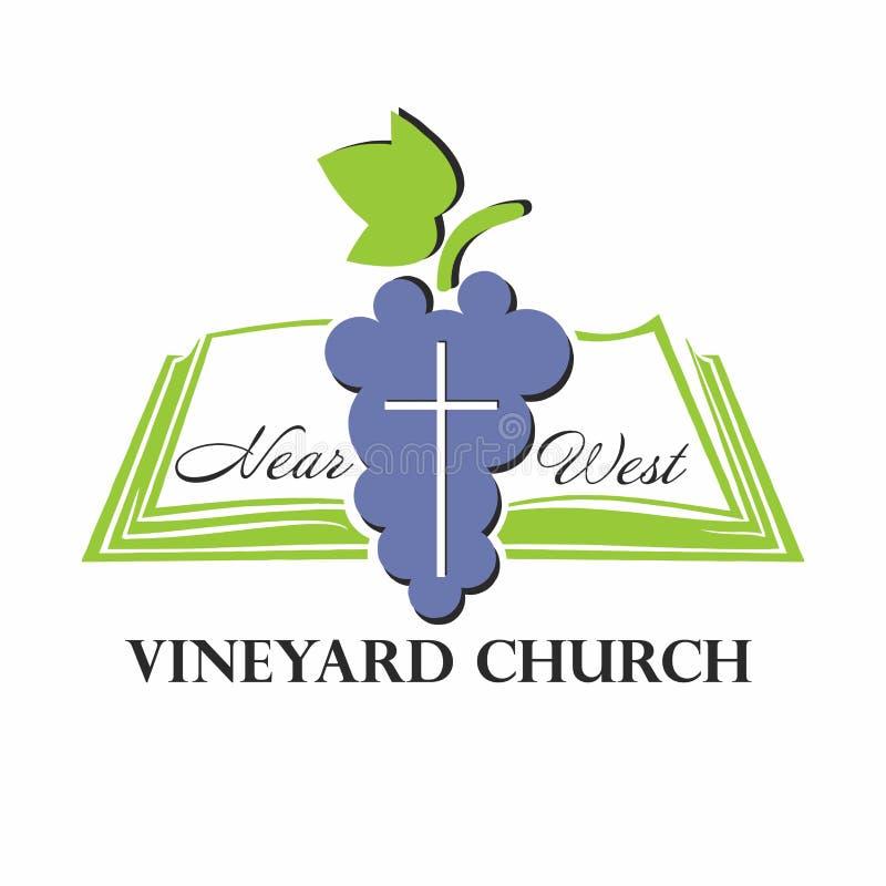 Logotipo de la iglesia  stock de ilustración
