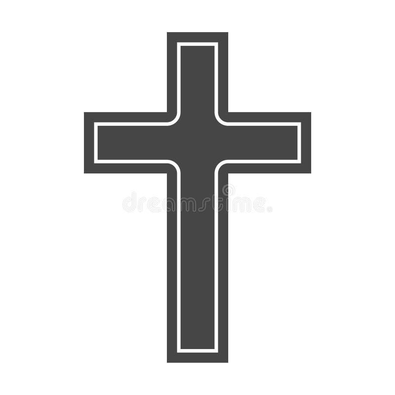 Logotipo de la iglesia cristiana, icono cruzado simple libre illustration