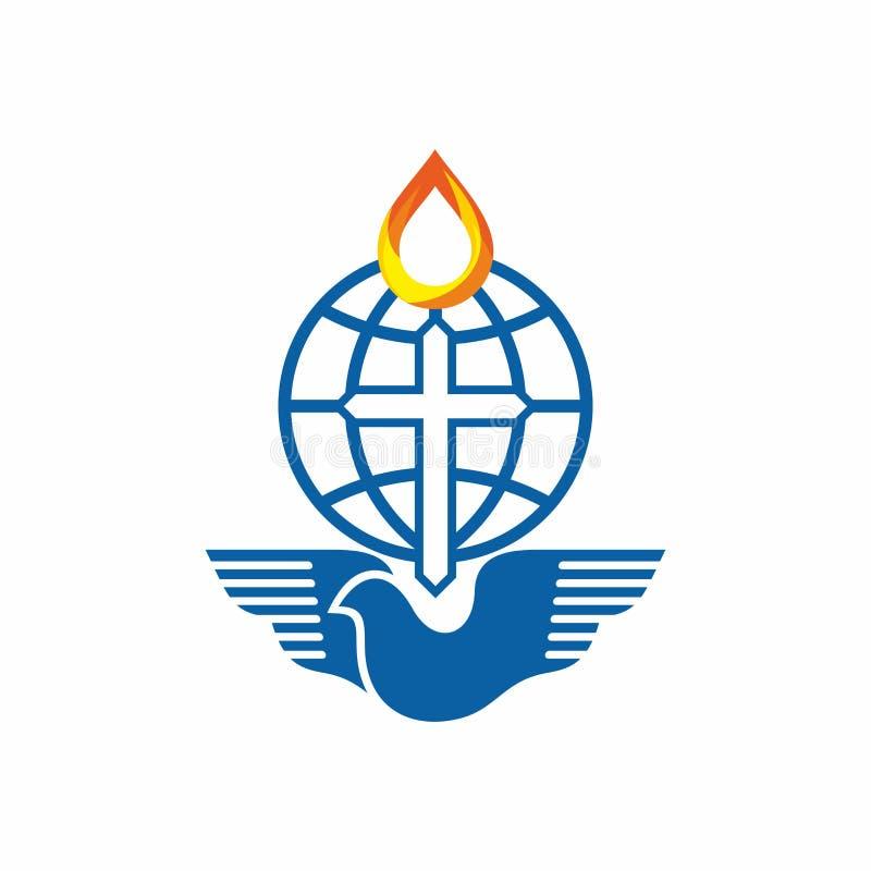 Logotipo de la iglesia La iglesia de dios es la lámpara del mundo libre illustration
