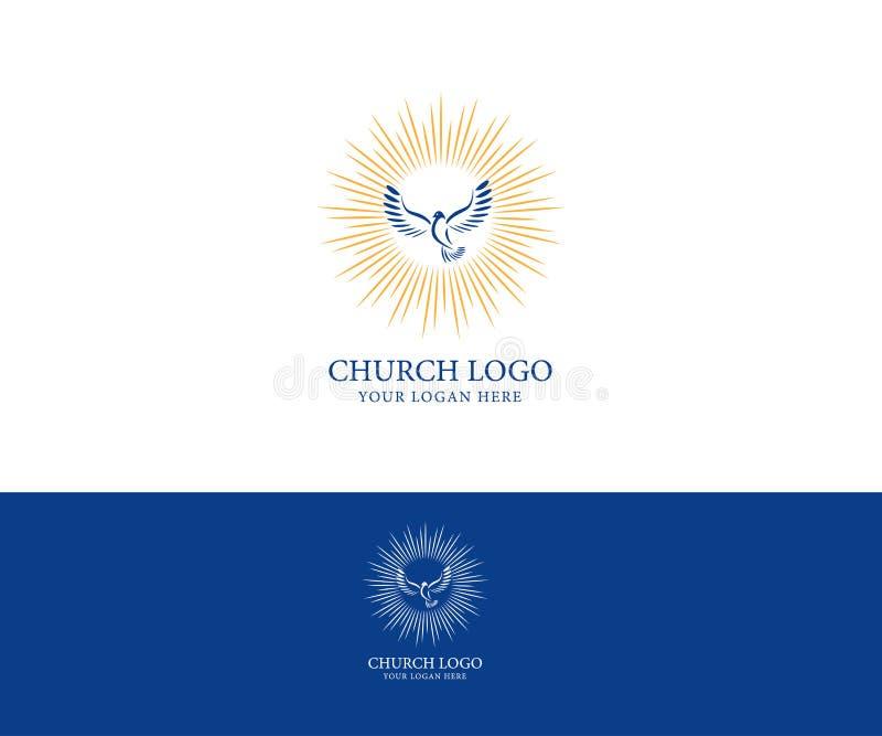 Logotipo de la iglesia Símbolos cristianos stock de ilustración