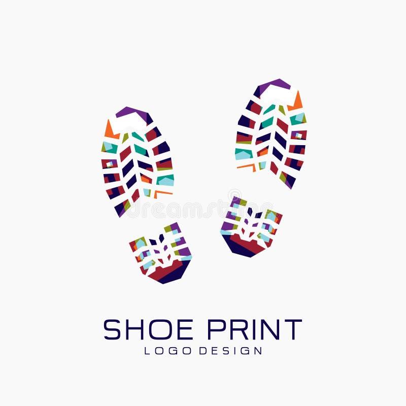 Logotipo de la impresión del zapato Impresión del zapato del color imagen de archivo libre de regalías