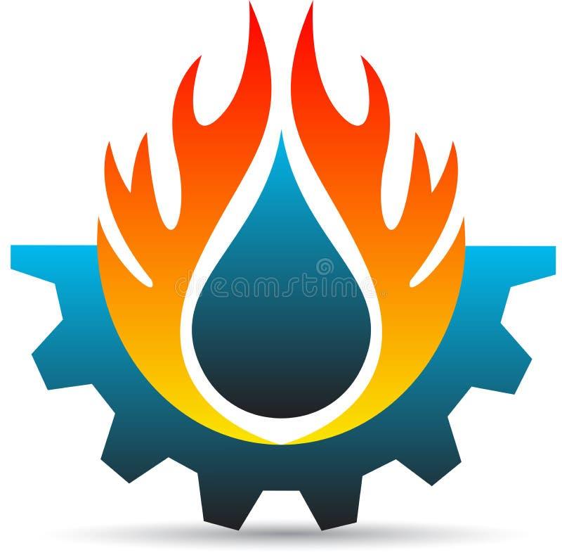 Logotipo de la industria stock de ilustración