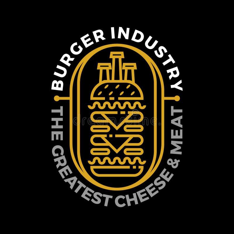 Logotipo de la industria de la hamburguesa libre illustration