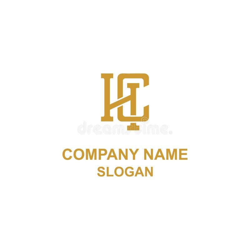 Logotipo de la inicial de la letra de HC ilustración del vector