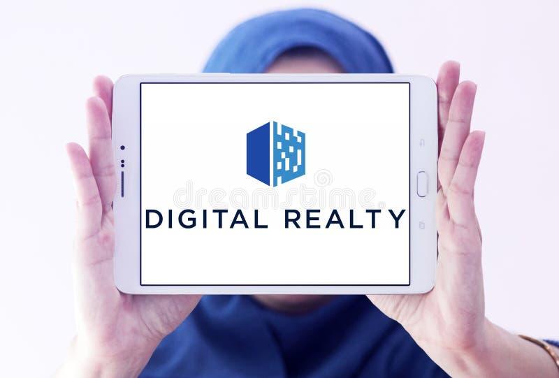 Logotipo de la inmobiliaria de los bienes raices de Digitaces foto de archivo