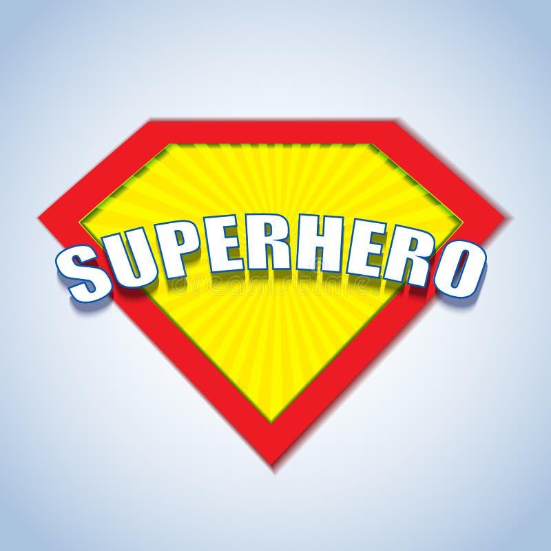 Logotipo de la insignia del super héroe ilustración del vector