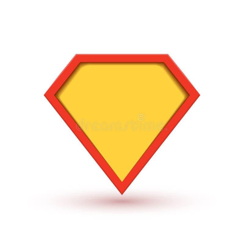 Logotipo de la insignia del vector del super héroe S?mbolo del icono del hombre del escudo del superh?roe del poder ilustración del vector