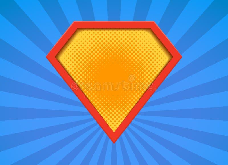 Logotipo de la insignia del vector del super h?roe S?mbolo del icono del hombre del escudo del superh?roe del poder libre illustration