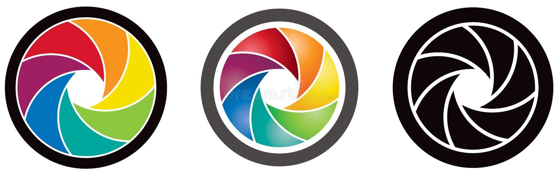 Logotipo de la lente ilustración del vector