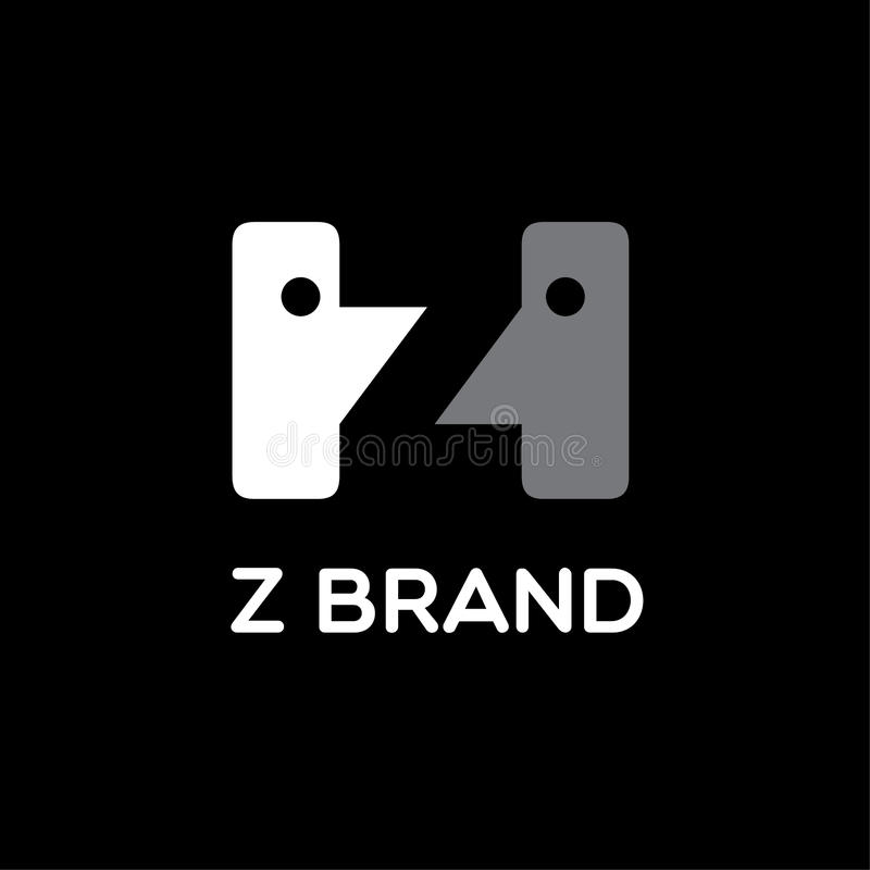 Logotipo de la letra de formación de las cabezas Z Muestra de la comunicación ilustración del vector