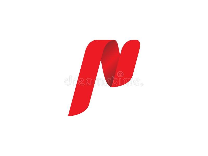Logotipo de la letra de P ilustración del vector