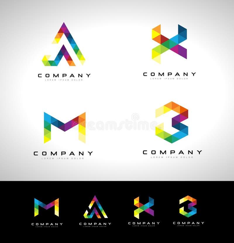 Logotipo de la letra del triángulo stock de ilustración