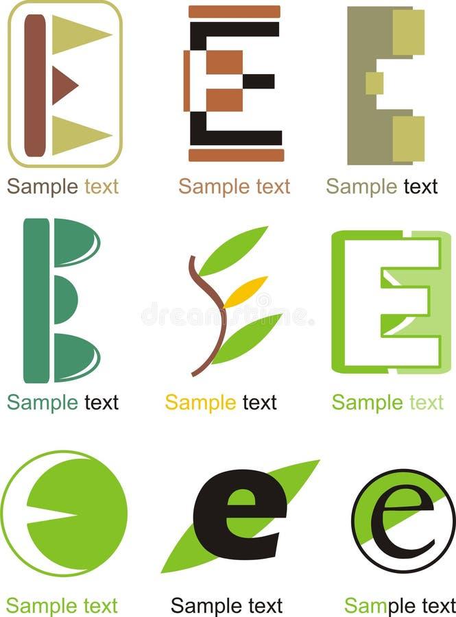 Logotipo de la letra E stock de ilustración