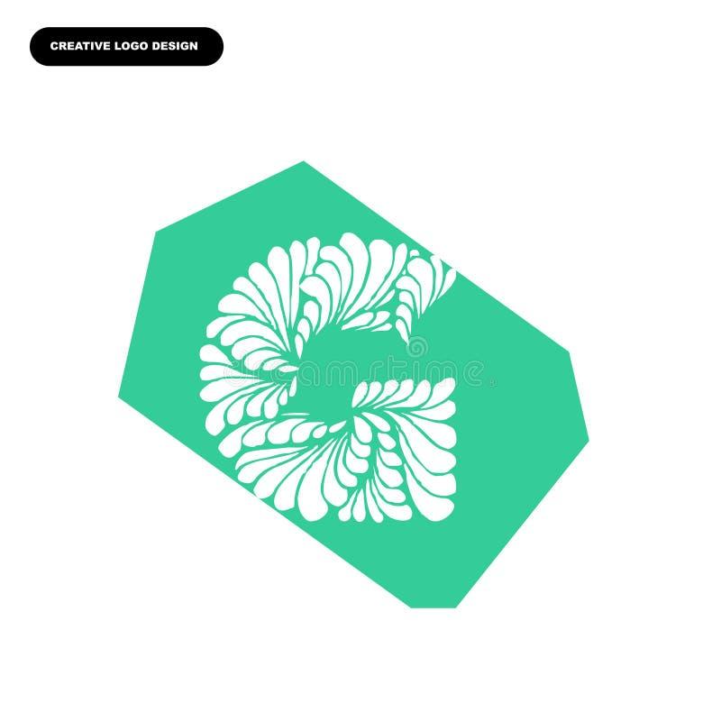 Logotipo de la letra de G del espiral y del diseño de concepto de la hoja fotografía de archivo libre de regalías