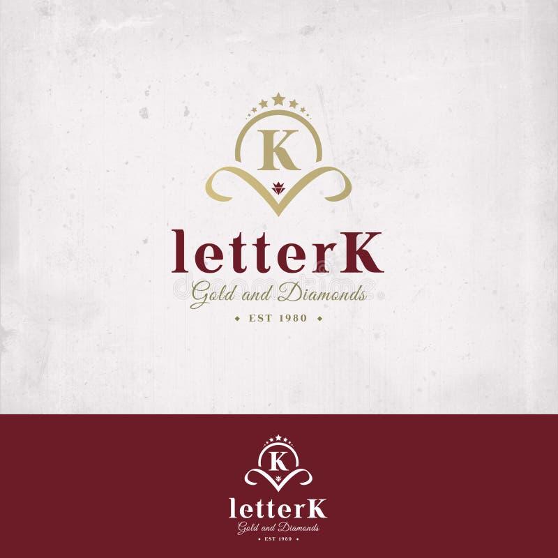 Logotipo de la letra K imagen de archivo libre de regalías