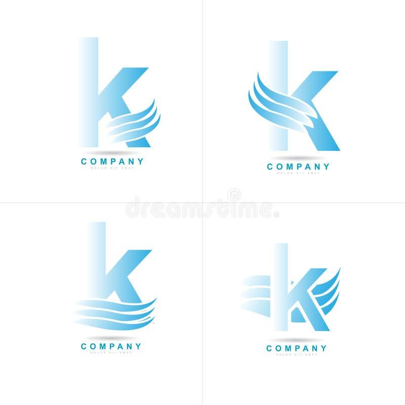 Logotipo de la letra K stock de ilustración