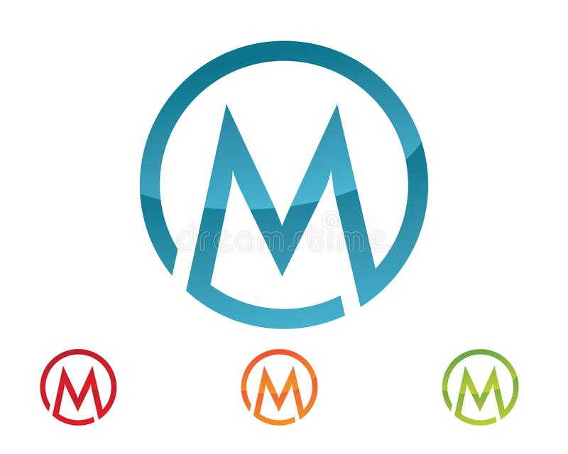 Logotipo de la letra de M ilustración del vector