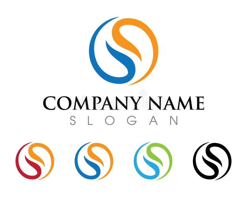 Logotipo de la letra de S ilustración del vector