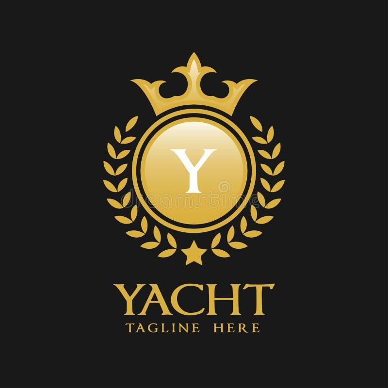 Logotipo de la letra Y - estilo lujoso clásico Logo Template ilustración del vector