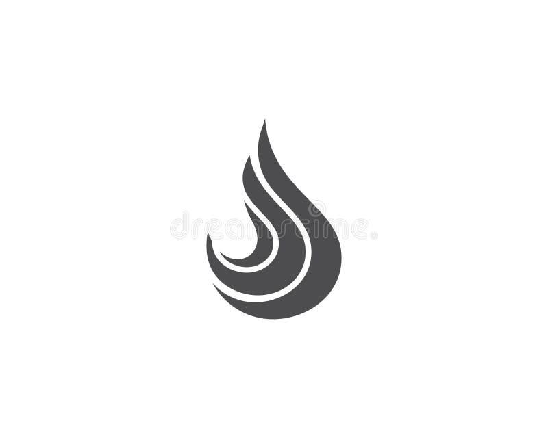 Logotipo de la llama del fuego ilustración del vector