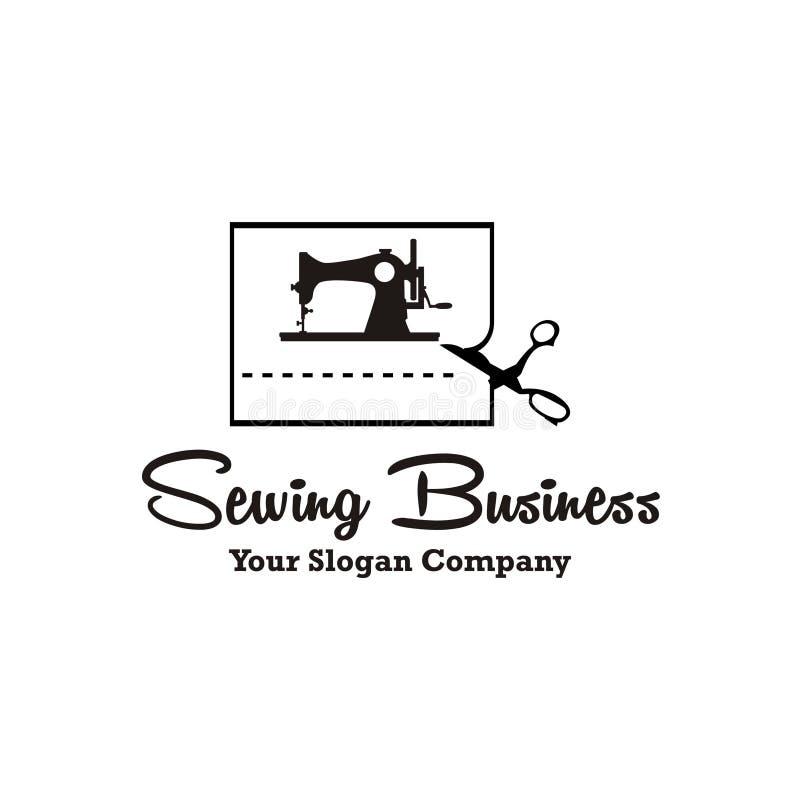 Logotipo de la máquina de coser stock de ilustración
