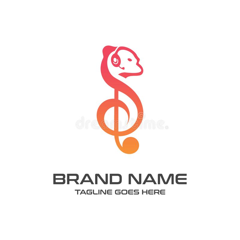 Logotipo de la música de la ardilla libre illustration