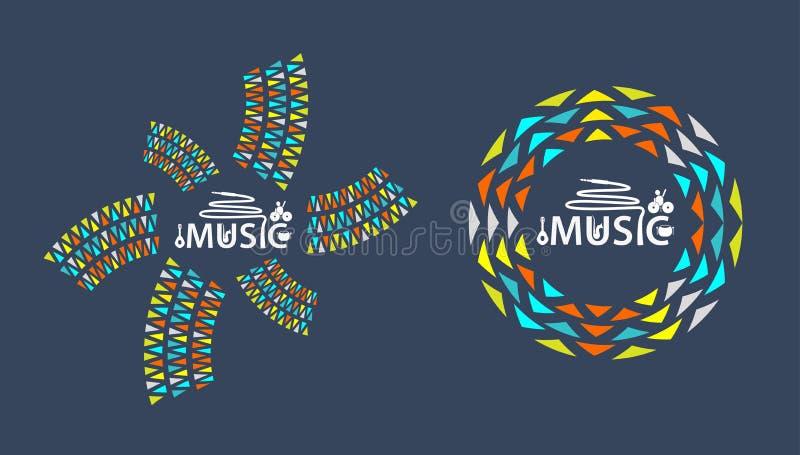 Logotipo de la música con el icono imagen de archivo libre de regalías