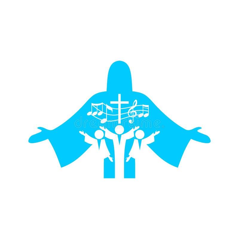 Logotipo de la música Símbolos cristianos Adoración musical en Cristo Jesús libre illustration