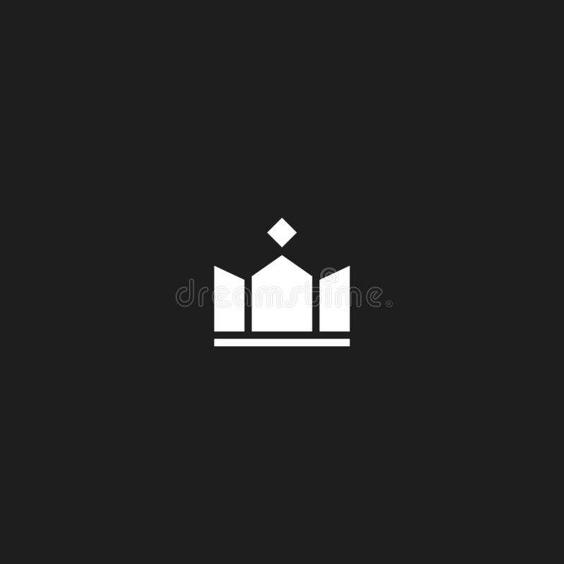 Logotipo de la maqueta de la corona del rey, icono real del éxito del diseño libre illustration