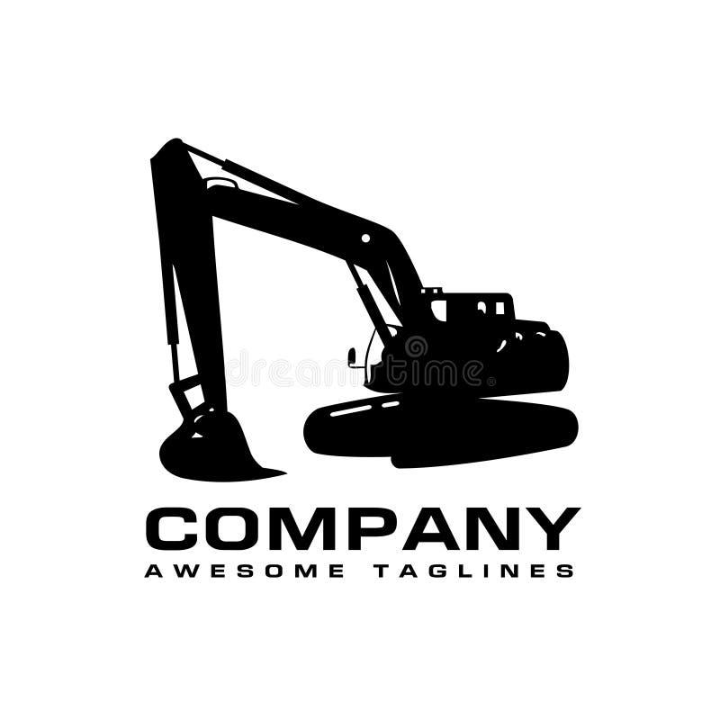 Logotipo de la maquinaria de construcción de los excavadores libre illustration