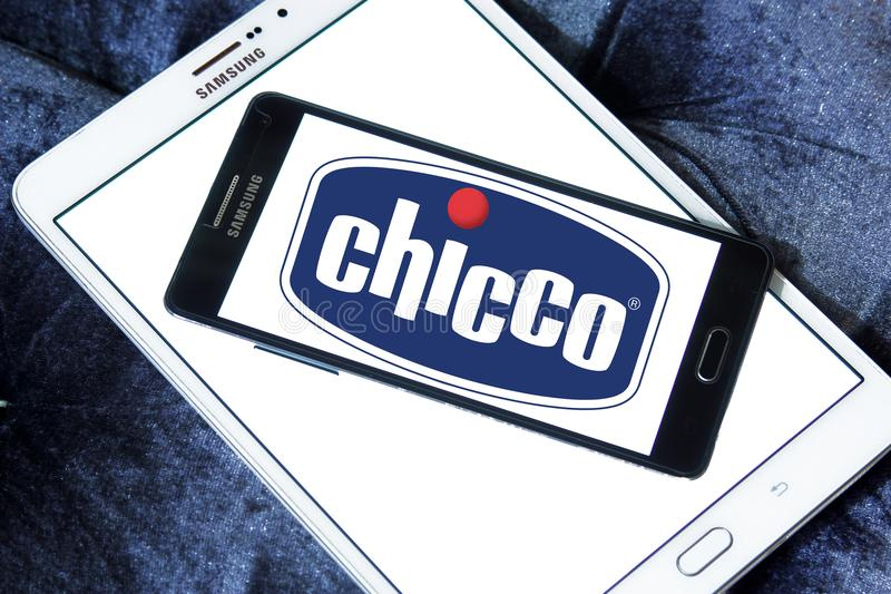 Logotipo de la marca de Chicco imagen de archivo libre de regalías