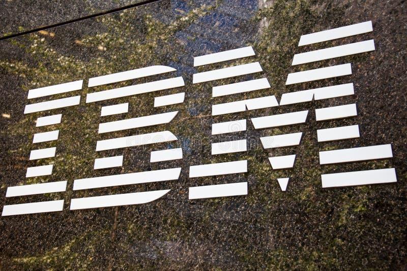 Logotipo de la marca de fábrica de IBM imagen de archivo