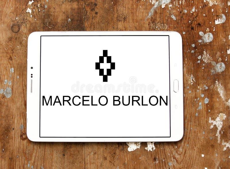 Logotipo de la marca de la moda de Marcelo Burlon imagenes de archivo