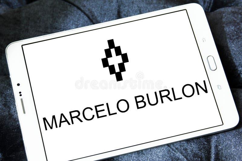 Logotipo de la marca de la moda de Marcelo Burlon foto de archivo