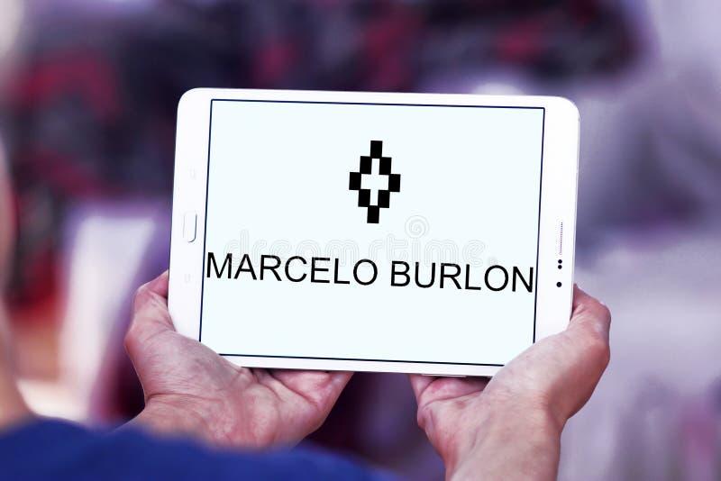 Logotipo de la marca de la moda de Marcelo Burlon fotografía de archivo