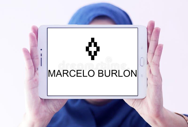Logotipo de la marca de la moda de Marcelo Burlon imágenes de archivo libres de regalías