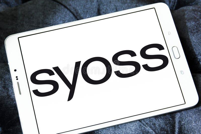 Logotipo de la marca de Syoss fotografía de archivo