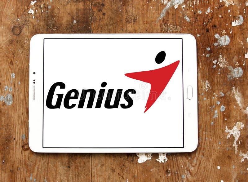 Logotipo de la marca de la tecnología del genio fotografía de archivo libre de regalías