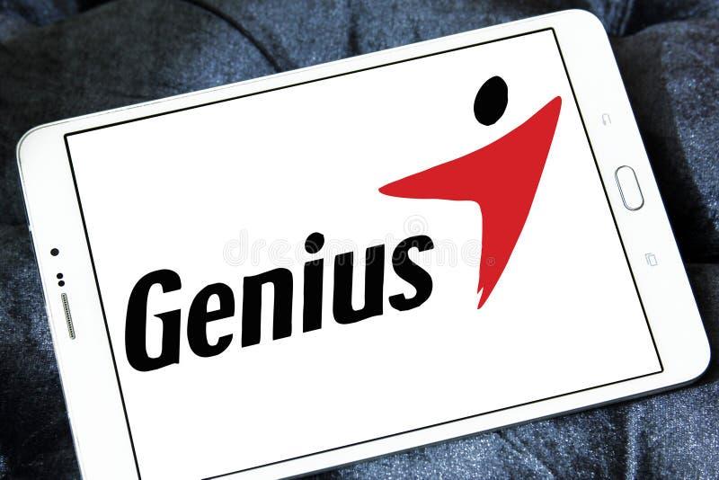Logotipo de la marca de la tecnología del genio fotos de archivo