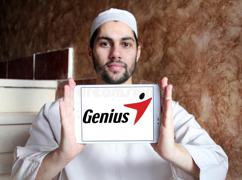 Logotipo de la marca de la tecnología del genio imagen de archivo