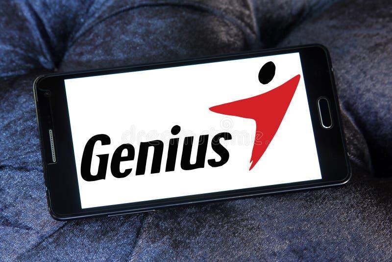Logotipo de la marca de la tecnología del genio fotos de archivo libres de regalías
