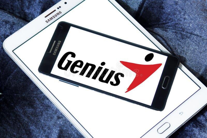 Logotipo de la marca de la tecnología del genio imagenes de archivo